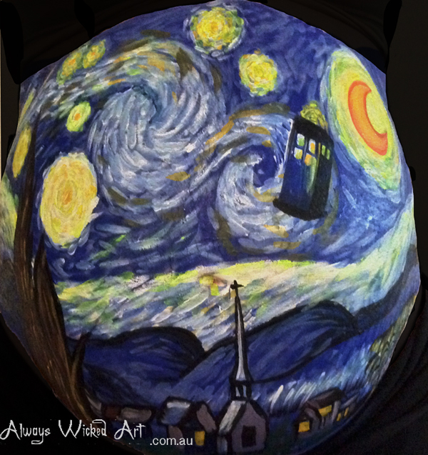Tardis-Doctor-Who-pregnancy-belly-painting-body-art-brisbane-gold-coast