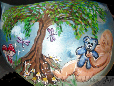 gestational body art pregnancy painting baby bump belly painting brisbane gold coast tweed heads queensland