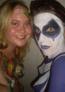 body_painting_glamour_party_brisbane_gold_coast